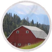 Barn - Pikes Peak Burgess Res Divide Co Round Beach Towel