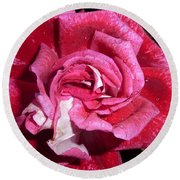 Red Beauty 2  Round Beach Towel