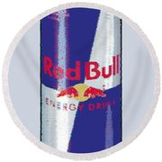 Red Bull Ode To Andy Warhol Round Beach Towel