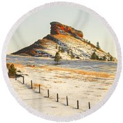 Red Butte Round Beach Towel