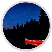 Red Canoe I Round Beach Towel