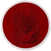 Red Cat Collection. Special... Round Beach Towel