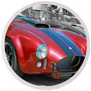 Round Beach Towel featuring the photograph Red Cobra by Shoal Hollingsworth