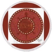 Red Coral Round Beach Towel