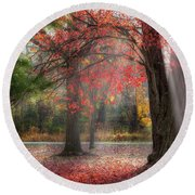 Red Dawn Square Round Beach Towel