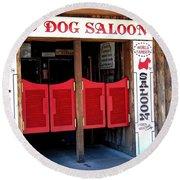 Red Dog Saloon Juneau Round Beach Towel