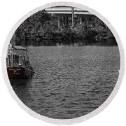 Red E 2 Sail Round Beach Towel by Barry Jones