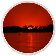 Round Beach Towel featuring the photograph Red by James Peterson
