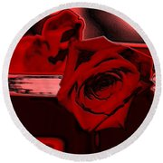 Red Passion. Rose Round Beach Towel
