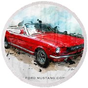 The Red Pony 2 Round Beach Towel
