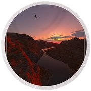 Red River... Round Beach Towel by Tim Fillingim