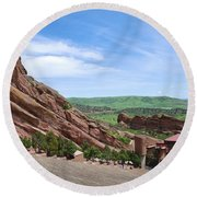 Red Rocks Round Beach Towel