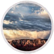 Red Rocks Of Sedona Round Beach Towel