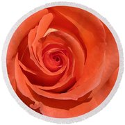 Red Rose Round Beach Towel by Eva Csilla Horvath
