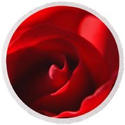 Round Beach Towel featuring the photograph Red Rose by Tikvah's Hope