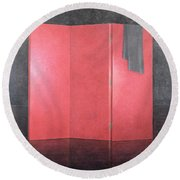 Red Screen, 2005 Acrylic On Canvas Round Beach Towel
