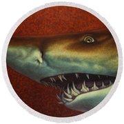 Red Sea Shark Round Beach Towel