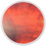 Red Sky At Night Round Beach Towel by Laurel Powell