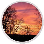 Red Sky At Night Sailor's Delight Round Beach Towel
