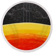 Red To Yellow Spacescape Round Beach Towel