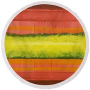Red Yellow And Green Round Beach Towel