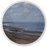 Redcar From A Distance Round Beach Towel