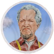 Redd Foxx As Fred Sanford Round Beach Towel