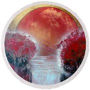 Redder Round Beach Towel