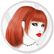 Redhead Cassia Round Beach Towel by Renate Janssen