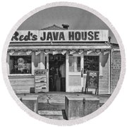 Red's Java House San Francisco By Diana Sainz Round Beach Towel