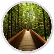 Redwood Bridge Round Beach Towel