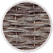 Reed Fence Round Beach Towel