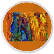 Reed Flute Cave Round Beach Towel