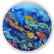 Reef Fish Round Beach Towel