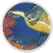 Reef Rider Round Beach Towel