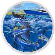 Reef Sail Off00151 Round Beach Towel