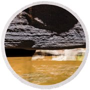 Reflected Formations Round Beach Towel