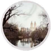 Reflected Round Beach Towel by Lisa Russo
