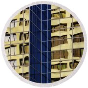Reflecting Architecture  Round Beach Towel
