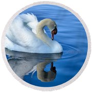 Reflecting Round Beach Towel by Deb Halloran