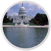Reflecting Pool With A Government Round Beach Towel by Panoramic Images
