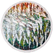 Reflecting Sails Round Beach Towel by George Riney