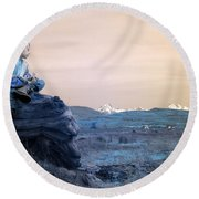 Reflecting Thoughts Round Beach Towel