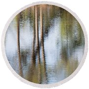 Reflection Abstract Round Beach Towel