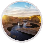Reflection Canyon Round Beach Towel
