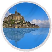Reflection Round Beach Towel