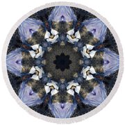 Reflection  Kaleidoscope Round Beach Towel