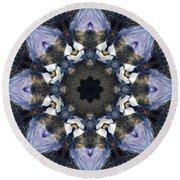 Reflection - Kaleidoscope Art Round Beach Towel