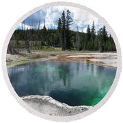 Round Beach Towel featuring the photograph Reflection by Laurel Powell