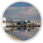 Round Beach Towel featuring the photograph Reflection by Leticia Latocki